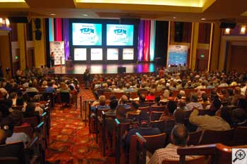 Dealers gathering in the Bushnell Theater in Hartford, CT for our basement systems convention